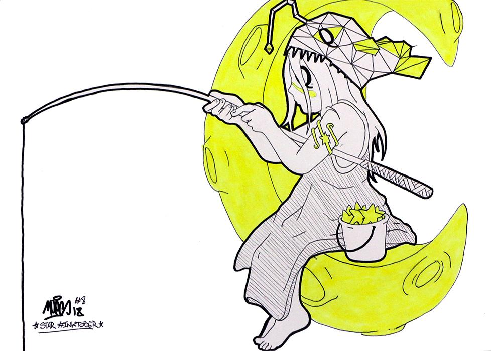 Série de dessin à l'encre de MOES (défi Inktober) Prix : 40€