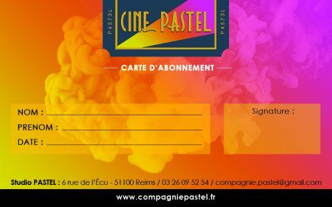 carte adhérent Ciné PASTEL 2018-2019